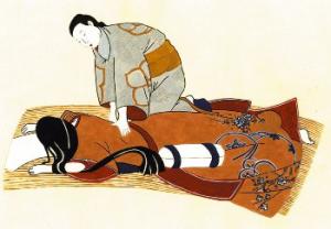Image ancienne pratique Shiatsu